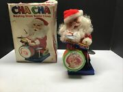 Vintage Battery Operated Musical Santa Claus Playing The Drum Christmas Rare
