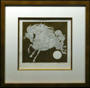 Guillaume Azoulay Absalom Progression 1a Horse Original Pen And Ink Hand Signed
