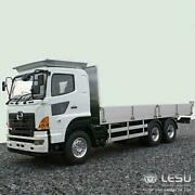 1/14 Lesu Rc Hino700 64 Flatbed Tractor Truck Trailer Model Metal Chassis Motor