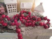 Red Crab Apple Berry Christmas Garland Christmas Or Primitive Crafts