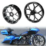 21x 3.5and039and039 Front Wheel And 18and039and039 Rear Wheel Rim Hub Fit For Harley Touring 08-21
