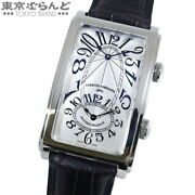 Cuervo Y Sobrinos Prominente Dual Time Watch 1112-1ag Menand039s Automatic Silver