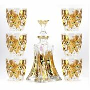 Whiskey Decanter And Glasses Set Decorative Bourbon Scotch Rum Tequila Bottle