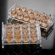 Whiskey Shot Glasses Set With Holder Vodka Beer Scotch Tequila Small Glass Bar