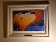 Snoopy Sticky Wet Romantic Kiss On The Love Boat By Tom Everhart Framed Print