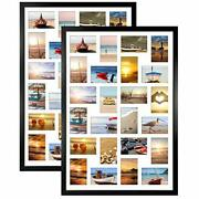 Horlimer 2 Pack 4x6 Picture Frames Collage With 24 Openings Multi Photo Frame...