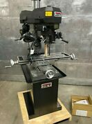 Jet Jmd-18 Milling Drilling Machine 2 Hp Brand New Mill Drill 1 Phase With Stand