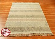 Floral Rug Indian Hand Block Printed Cotton Dhurrie Antique Look Carpet 4x6 5x8