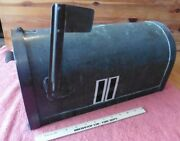 Vintage Solid Copper Mailbox Bronze Patina With Flag Antique Mail Box Post Mount