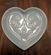 Lenox Dish French Perle Bluebell Heart Shaped 6 3/8 Wedding Valentineand039s Nice