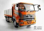 Lesu 1/14 Rc Hino700 64 Flatbed Trailer Tractor Truck Metal Chassis Model Motor
