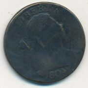 1804 Draped Bust Large Cent-key Date Scarce Circulated-ships Free Invds