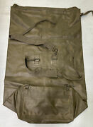 Vintage French Army Military Issue Surplus Rubberized Waterproof Duffel Bag 80s