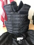Tactical Black Molle Body Armour With Filler/plates Level 4 Uksf