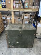 Wwii Us Army Original Battalion Size Field Desk 1944 Herkert And Meisel W/chairs