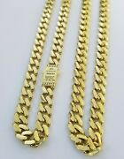 Real 10k Gold Royal Miami Cuban Chain 6mm Monaco Necklace 18-24 10kt Yellow Gd