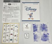 Disney Home Donald Duck Embroidery Design Card Sa-302d - Rare Hard To Find