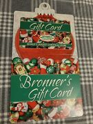 Frankenmuth Bronners Christmas Gift Card No Value