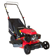 Push Lawn Mower Gas Powered 18 Gal. Grass Trimmer Cutter Compact With Steel Deck