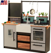 Kidkraft Farm To Table Chef Kitchen Playset With Ez Kraft Assembly Lights And Soun