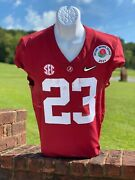 Roydell Williams Game Used And Signed Alabama Crimson Tide Jersey 2021 Rose Bowl