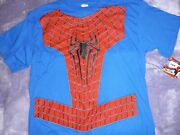 New Spiderman The Amazing Spider-man Adults Costume T-shirt Xl 44-46 No Mask