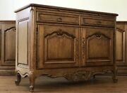 Antique Louis Xv Style Pecan And Walnut Server Buffet Excellent Condition