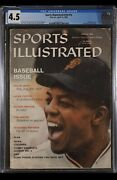 Sports Illustrated Newsstand 1959 Willie Mays Cgc 4.5 First Solo Rookie Cover
