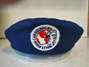 Airstream Wally Byam Caravanners Beret Trailer Hat No Size Tag Blue Large Wbcci