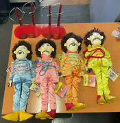 Beatles Sgt Pepper Lonely Hearts Collectible Applause 22andrdquo 4 Plush Dolls
