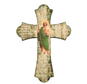 Saint Jude Wall Cross Made In Italy 10 Wood All Occasion