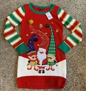 United States Sweaters Santa And Elves Ugly Christmas Sweater Womenand039s X-small