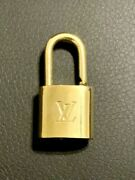 Authentic Louis Vuitton Brass Padlock Only Lv Lock Number Varies