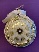 Waterford Holiday Heirlooms Snow Crystal Acanthus Medallion Ornament Christmas