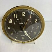Vintage Made In The Usa Baby Ben West Clox Wind Up Alarm Clock-tested Works