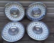 1950and039s 1960and039s Oem Cadillac Deville Hubcaps Wheel Covers Set Of 4