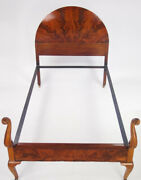 2 Queen Anne Mahogany Single Beds