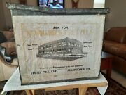Antique Country Store Counter Display Tin Newhardand039s Pretzels Allentown Pa Huge