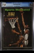 Sports Illustrated Newsstand 1973 Jabbar Chamberlain Cgc 7.5 First Group Cover