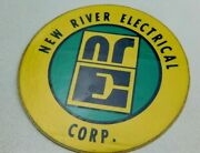 New River Electrical Corp Nre Coal Miner Mining Hard Hat Decal Sticker Vintage
