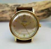 Vintage 1965 Solid 9k Gold Omega Seamaster Silver Dial Auto Cal552 Man's Watch