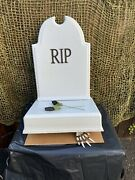 Animated Store Display Halloween Prop Tombstone Tipper Haunted House