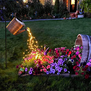 Watering Can With Lightssolar Star Shower Light With Stake Firefly Bunch Lights