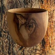 Kou Small Cup Bowl Natural Wood Hawaii Made By Local Artist A Rare Wood
