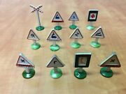Vintage O Scale Metal Railroad Rr Signs Lot Of 12 Cast 1 3/4 To 2 1/4