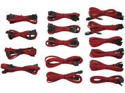 Corsair Cp-8920049 Professional Individually Sleeved Dc Cable Kit - Red