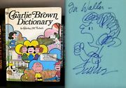 The Charlie Brown Dictionary Signed By Charles Schulz With Lucy Sketch Peanuts