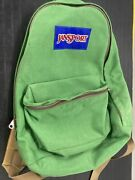 Rare Vintage Jansport Green Canvas Backpack 70s / 80s Small