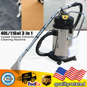 Portable Carpet Cleaning Machine 40l Vacuum Cleaner Extractor Dust Collector Usa