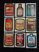1974 Wacky Packages 8th Series Complete Set Of Stickers With Puzzle